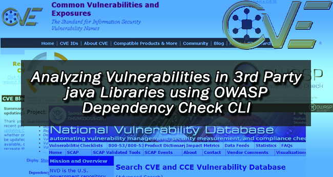 Analyzing Vulnerabilities in 3rd Party java Libraries using